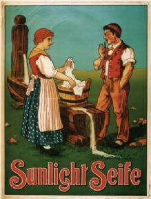 Vintage advertisement poster - sunlight soap switzerland